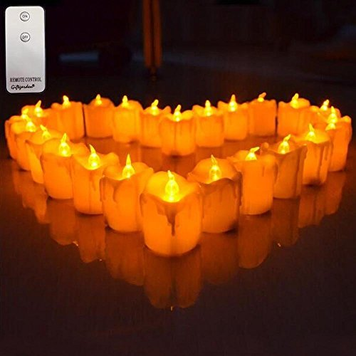 Giftgarden® LED Kerzen mit Flammen und Bedienung 12 Stück 2.2 Inch
