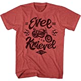 American Classics Evel Knievel - One Evel Motorcycle - Red Heather - M Shirt