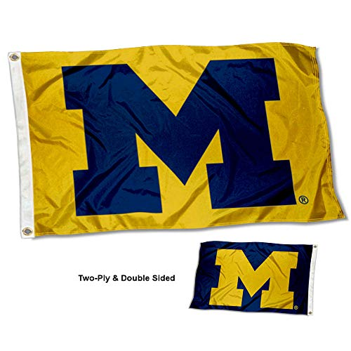 University of Michigan Wolverines Maize and Blue Double Sided Flag