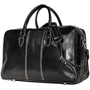 Floto Unisex Custom Initials Personalization Leather Travel Bag 7