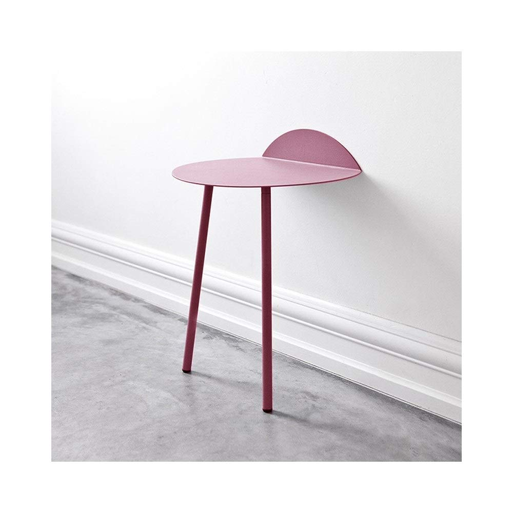 LQQGXLBedside Table Small Coffee Tea Table Side Table Shelf Furniture Living Room Furniture Small Side Table (Color : Pink, Size : B) by LQQGXL