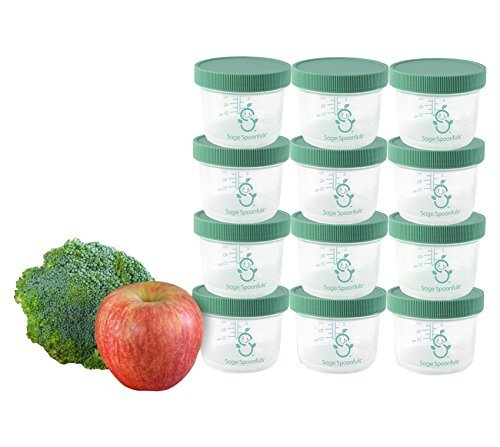 Sage Spoonfuls Big Batch Storage Set, 4 Ounce (Pack of 12) by Sage Spoonfuls