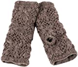 Nirvanna Designs MT13F Flower Crochet Hand Warmers, Cocoa