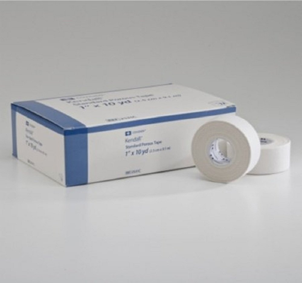 Kendall - Hypoallergenic - Medical Tape Kendall - Hypoallergenic Paper 1 Inch X 10 Yard White NonSterile - 120/Case - McK