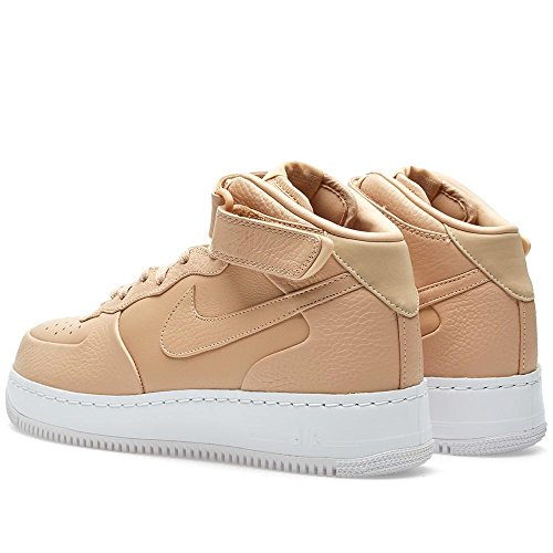 Scarpe Tan Air 1 Mid Force Bianco NikeLab Marrone Vachetta Basket Uomo Vchtt white da Tan Nike x6XwqfHn
