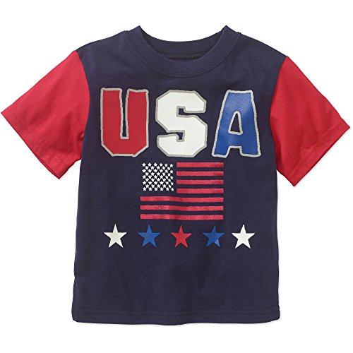 525 America Made in America Toddler Boys USA Flag Patriotic T-shirt 2T - Sale Independence Usa Day In