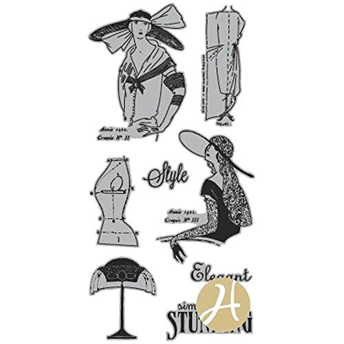 Stamp Graphic - Graphic 45 Couture 2 G45 Cling Stamp