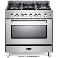 Verona 36 All Gas Single Oven Range (VEFSGG365NSS) - Stainless Steel