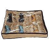wiwanshop 12 Pairs Tidy Under Bed Fabric Shoe Storage Organizer Box Closet Bag