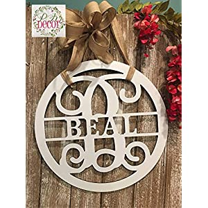"Personalized Last Name Sign for Condominium Apartment Townhouse18"" ACM Metal Family Name Sign Custom Monogram Door Wreath Last Name Door Hanger Closing Gift QUICK SHIPPING Outdoor Patio Decor"