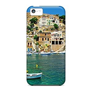 High Quality QBMCKNN1124Crpsa Greek Coastal Village Tpu Case For Iphone 5c