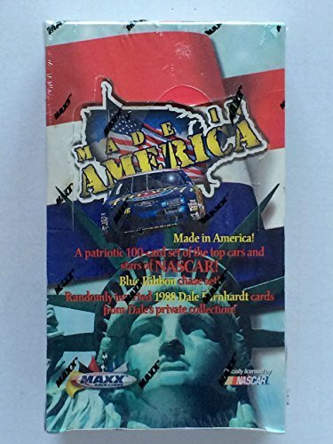 - 1996 MAXX Race Cards - NASCAR, Includes a Patriotic 100 Card Set of the Top Cars and Stars (Made in America) Trading Cards.