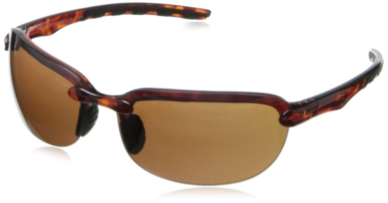 Greg Norman G4411 Sport Rimless Extreme Lens Sunglasses,Crystal Brown Demi & Black, 66 mm
