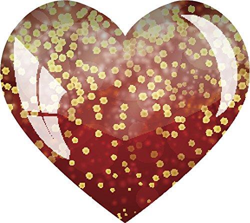 - Pretty Shiny Optical Illusion Heart Icon Vinyl Decal Sticker (4