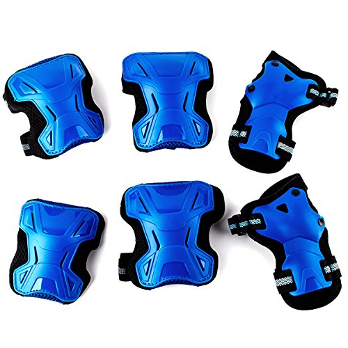 RELEEDER Multi-Use Sports Safety Protection Children Kids Elbow Knee Wrist Protective Gear Pads Safety Gear Pad Guard for Cycling Roller Skateboard Hoverboard and Other Sports