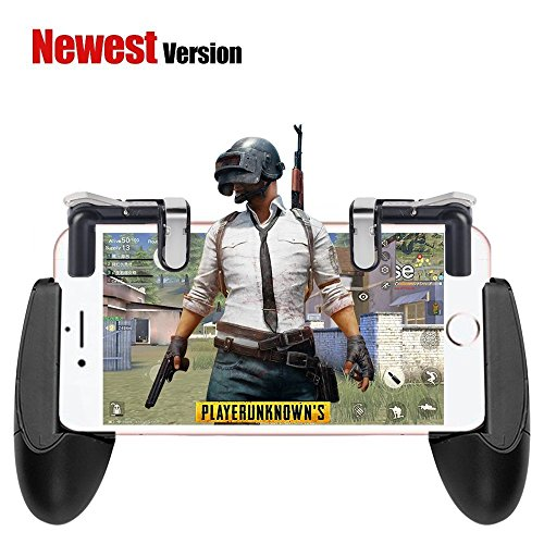 Obagool Mobile Game Controller Cell Phone Game Fire Button Aim Key Game Joystick Smart Phone PUBG/Fortnite/Free Fire/Rules of Survival Gaming Shooter Trigger L1R1 for Android iOS (Gen 4+Gamepad) (Games Phone Free Cell)