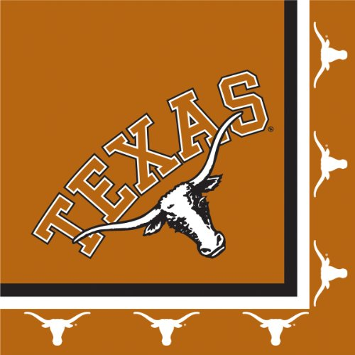 Texas Longhorns Lunch Napkins, 20-Count