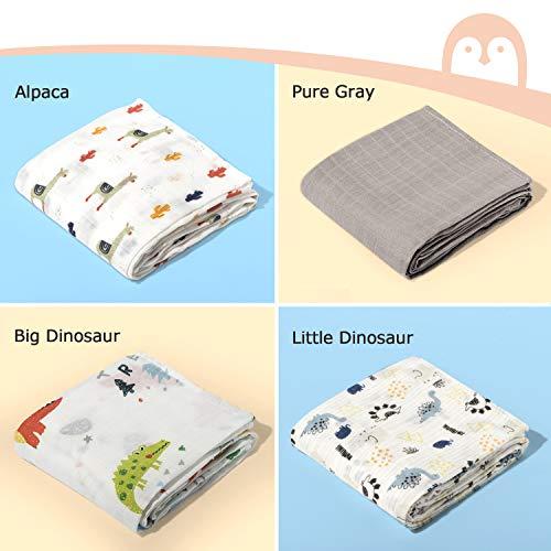 Momcozy De 4 Cobertores Para Bebes Con Patron De Animales 120 120 Cm 70 De Bambu 30 De Algodon En Las Mantas Para Bebes Manta Suave Para Dormir Para El Bebe
