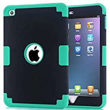 iPad Mini 4 Case,Lantier [Thin Slim][Shock Absorption][Slick Touch] Drop Protection Armor Hybrid Dual Layer Defender Protective Case Cover for Apple iPad Mini 4 Blue+Black