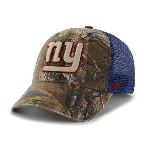 Giants Camo (NFL New York Giants '47 Huntsman Closer Camo Mesh Stretch Fit Hat, One Size, Realtree)