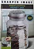 Sharper Image Digital Counting Money Jar with LCD Display, Counts All U.S. Coins