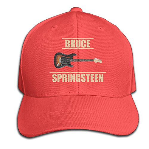 zoena-chapter-and-verse-bruce-springsteen-5-cotton-hats-sun-cap-for-outdoor-sports-red