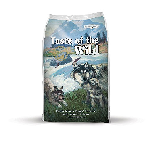 Taste of the Wild Pacific Stream Grain Free Protein Real Meat Recipe Natural Dry Puppy Food with Real Smoked Salmon 5lb