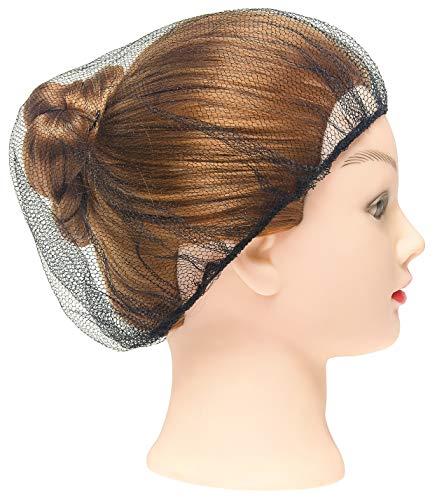 100 Pack Black Nylon Hairnets 24