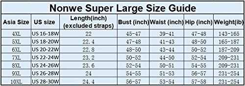NONWE Women's Plus-Size Swimsuit Retro Print Two Piece Tankini Swimwear 612108022-9XL (US 26-28W)