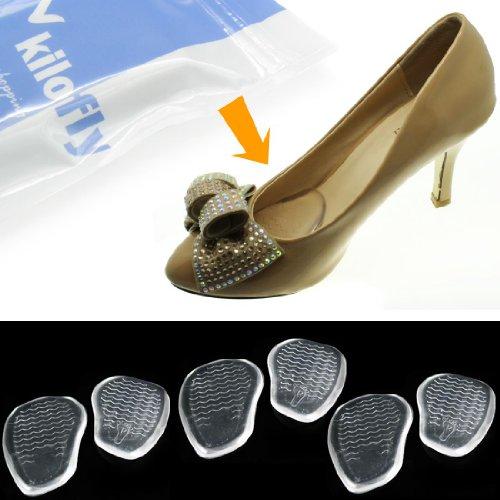 kilofly Silicone Cushion Shoe Insoles - Front [Set of 3]