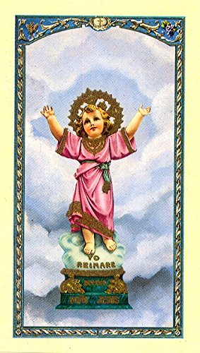 Holy Card 'Divino Nino' Divine Child Jesus, 'Prayer To Beckoning Child Jesus' On Back, Patron Of The Poor And Unjustly Imprisoned