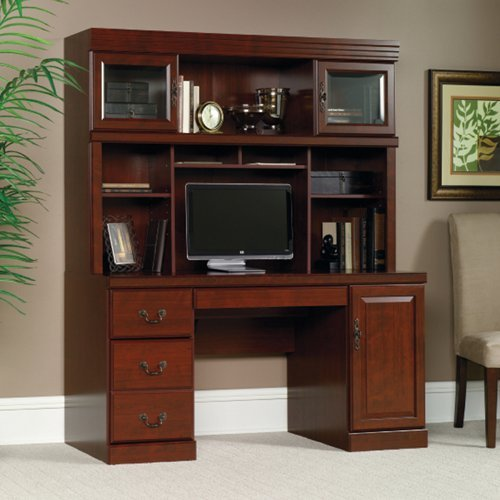 Computer-Credenza-with-Hutch-Classic-Cherr-Laminate-Finish-from-the-Heritage-Hill-Collection