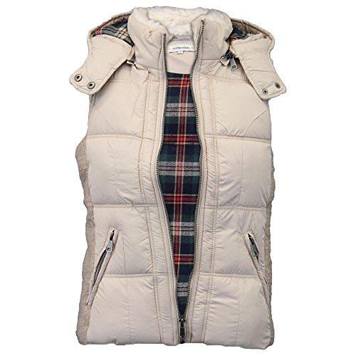 Capuche Taupe Avec Carreaux Vest Veste Collection Dlt290a D'hiver Vintage À Woman Boutique Rembourrée nRYqx06z