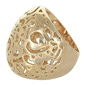 Venus Accessories Women's Gold Plated Brass Ring - 8 US