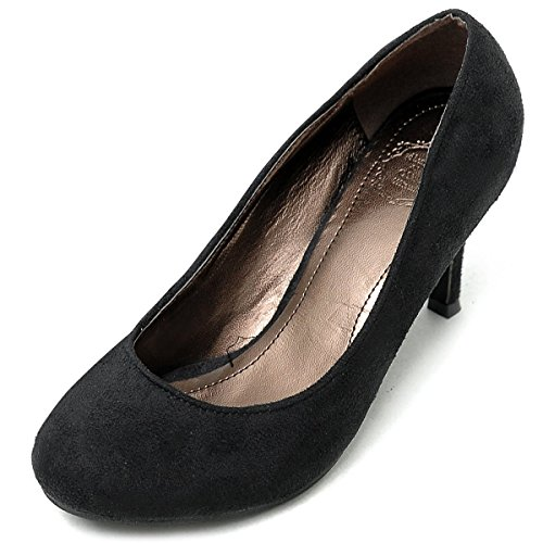 Multi Color D'Orsay Suede Shoe Ollio High Faux Black Heel Pump Women's 8q0axZwB