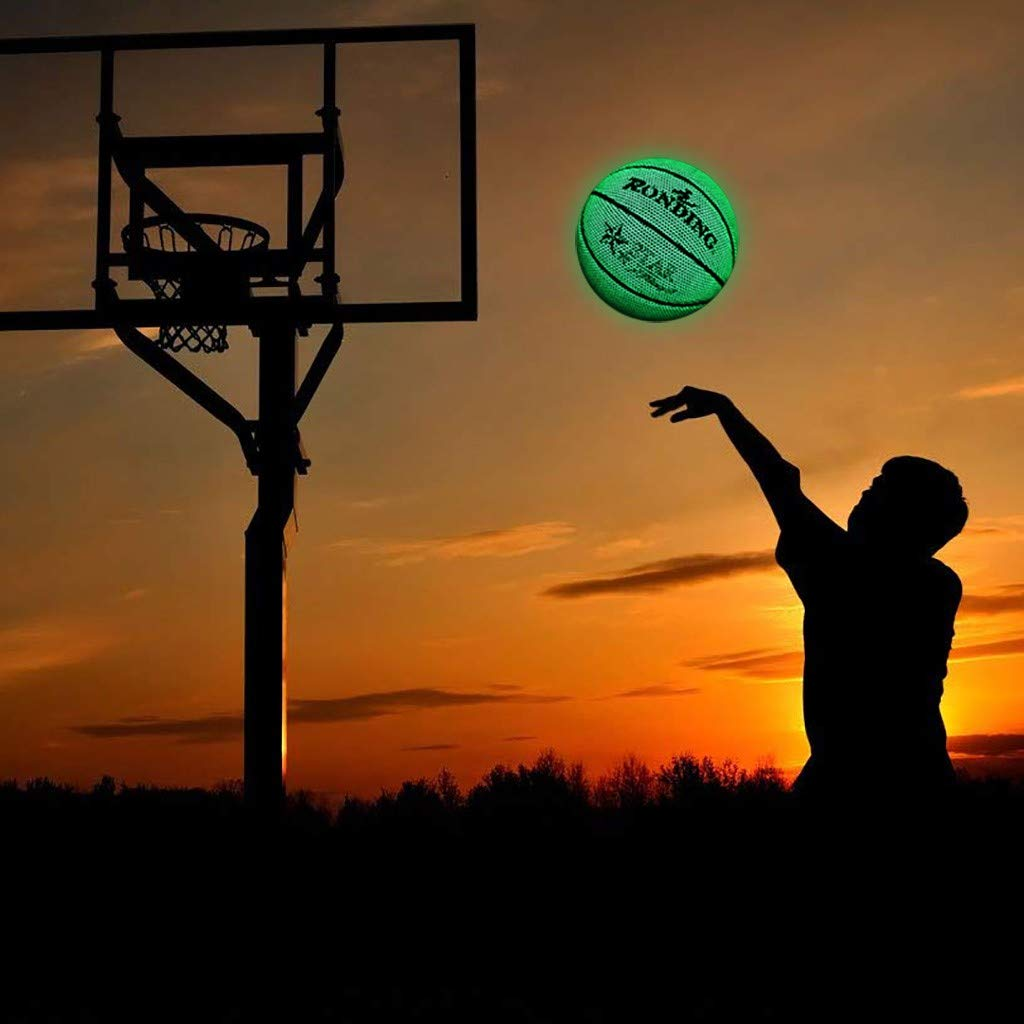 Perfect HoloHoops Gifts Toys HOLOWIN Reflective Glowing Holographic Luminous Basket Ball for Night Game