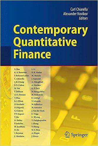 contemporary quantitative finance essays in honour of eckhard contemporary quantitative finance essays in honour of eckhard platen carl chiarella alexander novikov 9783642034787 com books