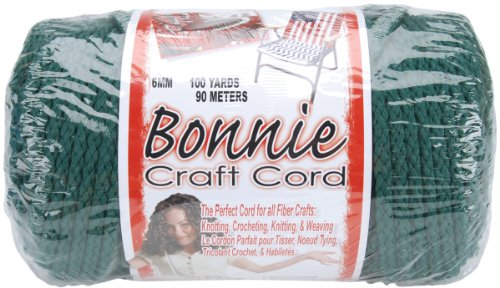 Pepperell 6mm Bonnie Macramé Craft Cord, 100-Yard, Forest