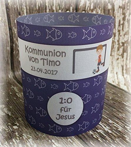 4er Set Tischlicht Tischlichter Kommunion Konfirmation Jugendweihe