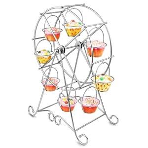 """Godinger Silver Ferris Wheel 18 3/4"""" High Cupcake Holder"""