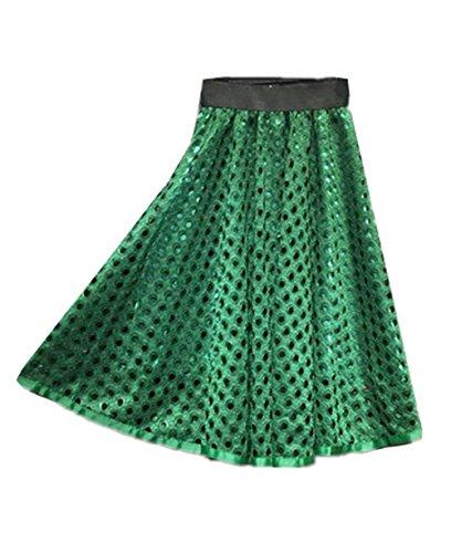 Aoliait Femme Jupe t ElGant Jupe Mi Longue Amincissante Jupe Dentelle Ajour Femelle Jupe A-Line Tendance Jupe Plisse Taille Haute Jupe