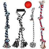 XL Dog Rope Toys for Aggressive Chewers - Large Dog Ball for Large and Mediu Dogs - Sturdy Large Breed Toy - Tug of War Dog Rope Toy Large - Floss Rope for Dogs Dental Health - 100% Cotton Rope Toy