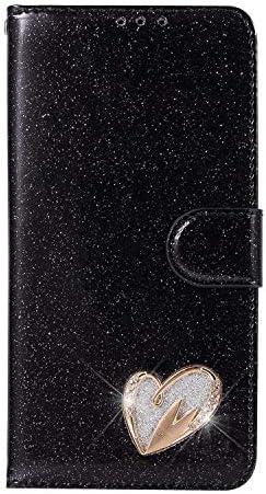 Huawei P20 Pro 手帳型ケース Zeebox® 可愛い カードポケット マグネット式 保護ケース ダイヤカバー キラキラ 手帳 耐汚れ 耐摩擦 耐衝撃 ケースHuawei P20 Pro 対応 女性向 スマートフォンケース, 黒