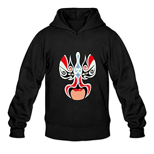 Mcczox Chinese drama mask diy fashion Men's Hoodie Sweatshirt Black ()