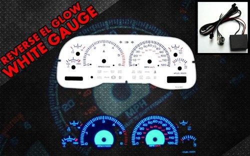 97-00 Dodge Dakota WHITE FACE GLOW GAUGES