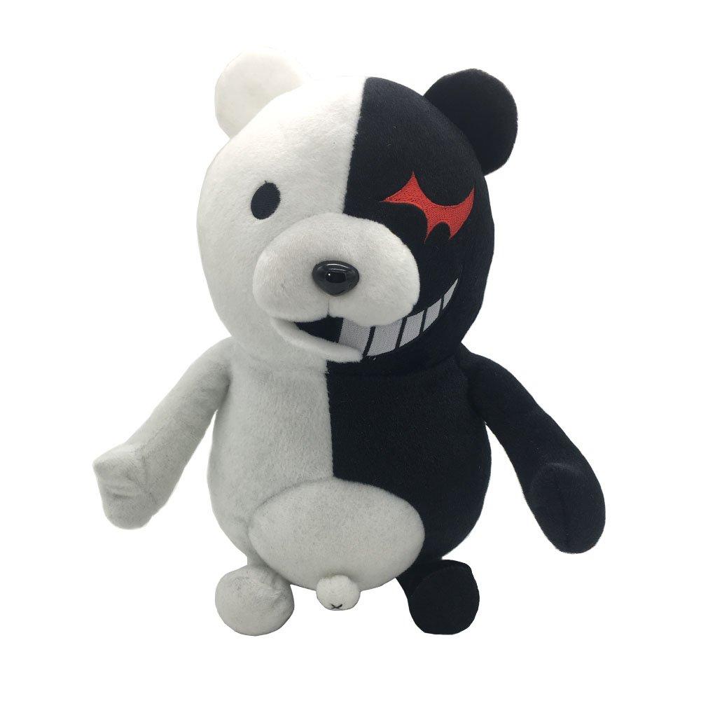 MAGGIFT monobear Plush Black White Bear Stuffed Plush Doll Toy