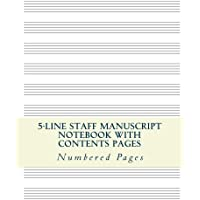 5-line Music Staff Manuscript Notebook