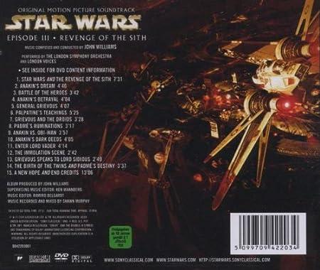 Star Wars Episode Iii Revenge Of The Sith Episode 3 Amazon Co Uk Music
