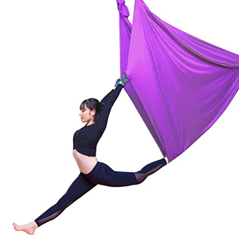 XHCP Hamaca Nylon Hamaca de Yoga Transpirable, Banda ...