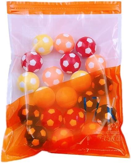 JZK 20 Piezas 36 mm plástico Multicolor Mesa futbolín balones fútbol para niños y Adultos Fiesta cumpleaños favores Bolsas Fiesta Juego de Juguete: Amazon.es: Juguetes y juegos